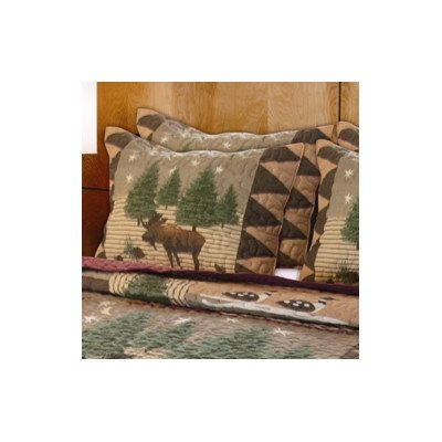 Greenland Home Fashions Moose Lodge Standard Sham, (Home Fashions Moose)