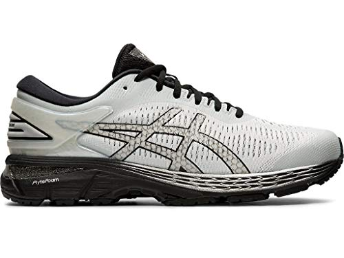 ASICS Men's Gel-Kayano 25 Running Shoes, 11M, Glacier Grey/Black