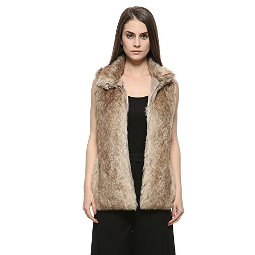 Dikoaina Women's Warm Long Faux Fur Vest Gilet Coat for sale  Delivered anywhere in USA