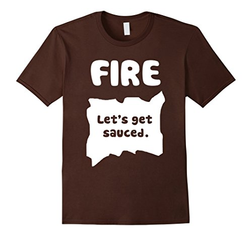 Mens Fire Hot Sauce Packet Alternate Halloween Costume T-Shirt 2XL Brown
