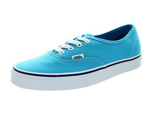 Vans Unisex Authentic Cyan Blue/True White Skate Shoe 8 Men US / 9.5 Women US