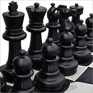 "MegaChess Giant Plastic Chess Set with a 25"" King and Nylon Chess Board"