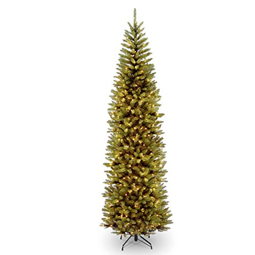 National Tree Kingswood 10 Foot Fir Pencil Tree (Artificial Christmas Thin Tree Pencil)