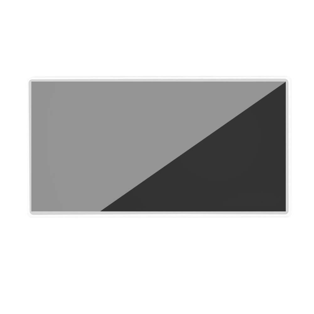 symboat 15/x 8/cm pr/áctica Auto Maquillaje de Coche Espejo Coche Interior Sol en Acero Inoxidable Fournitures cosm/éticos en Acero Inoxidable