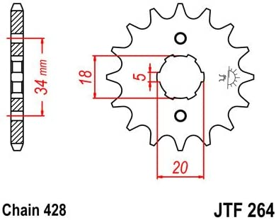Kette /& Ritzel Set f/ür Kymco Zing 125/Custom Cruiser Motorrad