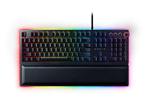 Razer Huntsman Elite Gaming Keyboard: Fastest Keyboard Switches Ever – Clicky Optical Switches – Chroma RGB Lighting…