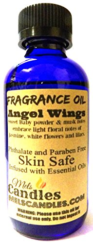 Wings Scented Cologne (Angel Wings 4oz / 118.29ml Blue Glass Bottle of Premium Grade A Quality Fragrance Oil, Skin Safe Oil, Use in Candles, Soap, Lotions, Etc)