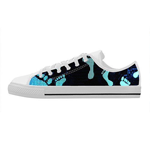 Donna Aquila Orma Gomma Da Custom Cheese Nera Casual Scarpe Design Action top Lace In up Leather Low Sneakers xApdw0Bq1