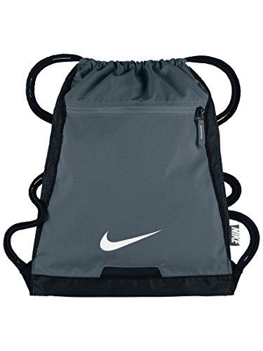 NIKE Alpha Adapt Team Training Drawstring Gymsack Backpack 600 Denier Sport Bookbag (Wolf Grey/ with Signature White Swoosh)