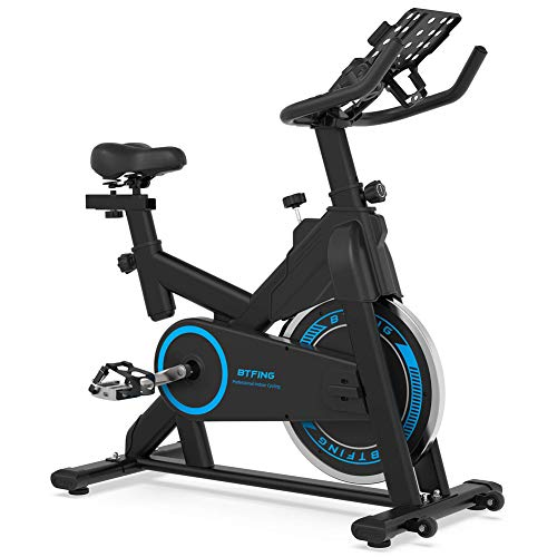 """BTFING Indoor Exercise Spinning Bike Stationary, Cycle Spin Bike with 35lbs Flywheel Phone Holder & 3.6"""" LCD Monitor for Home Gym & Workout Equipment"""