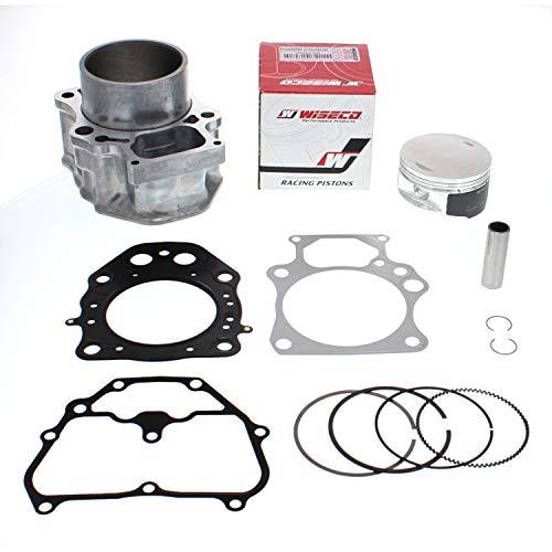 NICHE Cylinder Wiseco Piston Gasket Top End Complete Kit for Honda Rancher TRX420 2007-2018 (Incl: Wristpin, Rings, Head & Base Gaskets & Circlips)