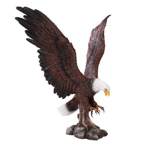 Large Eagle Home Decor Statue Made of Polyresin ()