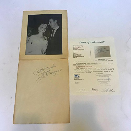 imaggio Signed Marilyn Monroe 500 Club Photo Display - JSA Certified - Autographed MLB Photos (Marilyn Monroe Signed)