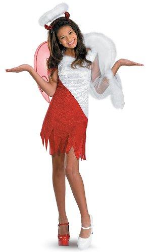 [Disguise Sassy Scene Heavenly Devil Deluxe Tween Costume, X-Large (14-16)] (Devil Halloween Costumes For Women)