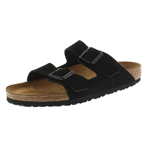 Birkenstock Men's Arizona 2 Strap Cork Footbed Sandal Black 42 M EU