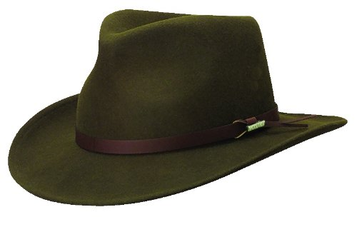 ade1fd91a Woolrich Men's Crushable Water Repellent Wool Felt Outback Hat