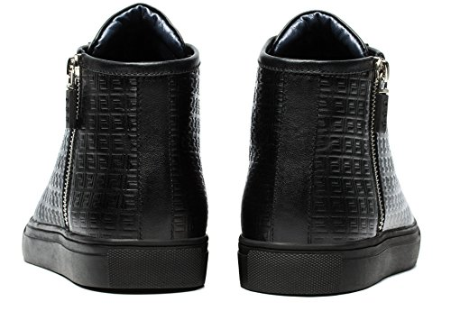 Opp Chaussures Bottines pour femme boots schnürs Profondeur Lettons en cuir Noir UrvoA