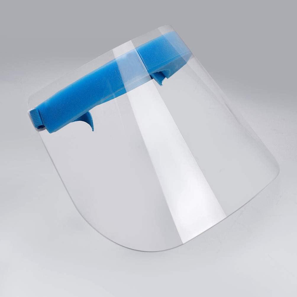 Trasparente Artibetter Visiera Protettiva Trasparente 2 Pezzi Protezione Facciale Trasparente Traspirante Visiera Protettiva Anti-Sputa