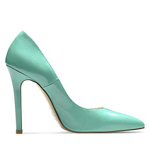 imprimé Femme Cuir 38 Escarpins MIA Turquoise Verni aOpZwwq