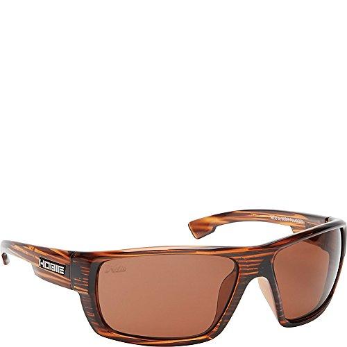 Hobie Mojo Men's Rectangular Sunglasses,Shiny Brown Wood Grain,67 - Hobie Polarized