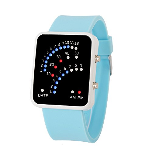 Women Mens Watch,FUNIC,Fashionable Japanese Style Multicolor LED Outdoors - Japanese Talking Watch
