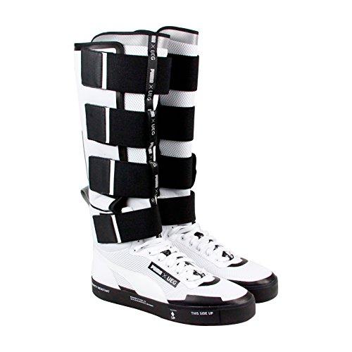 Puma Court Play X Ueg Hombres Zapatillas De Malla Blanca Con Cordones Zapatos