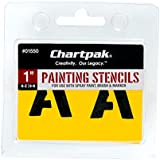 Chartpak Letter and Number Painting Stencils, A-Z and 0-9, 1 Inch H, 35 per Pack (01550)