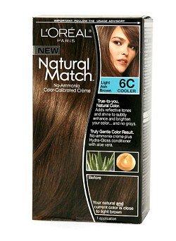 L'Oréal Natural Match Couleur des cheveux, la lumière Cendré