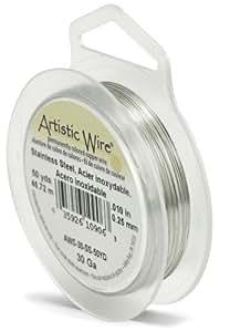 Beadalon Artistic Wire - Alambre (45,7 m, calibre 30, acero inoxidable)
