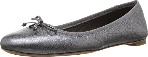 discount Manchester free shipping collections Coach Womens Flatiron Closed Toe Ballet Flats Gunmetal Rock Metallic professional online 628bG