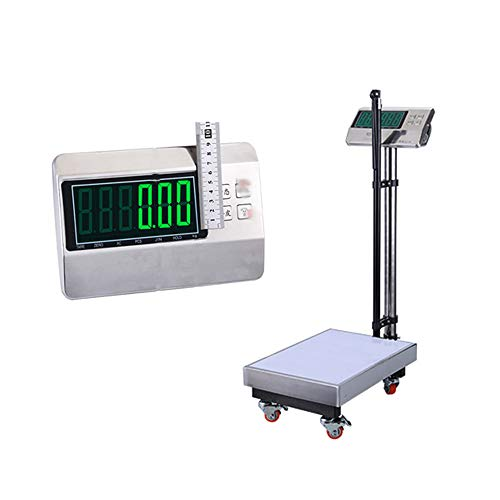 Mechanical Physician Scale, high-Precision Healthy Body Scale, Height and Weight, with Wheels, Height Bars and LED displays, 200kg