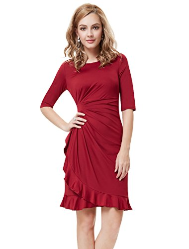 Ever Pretty Womens Wedding Guest Dresses With Sleeves 16 US Red