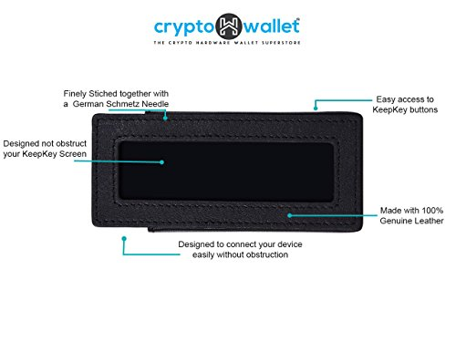 CryptoHwwallet Premium Genuine leather case for KeepKey Hardware wallet (World's first custom-made genuine leather case for KeepKey by crypto enthusiast at CryptoHwwallet Black Leather Case Only)
