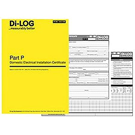 Part P Certificate >> Certificate Book Part P Accessories Test Measurement