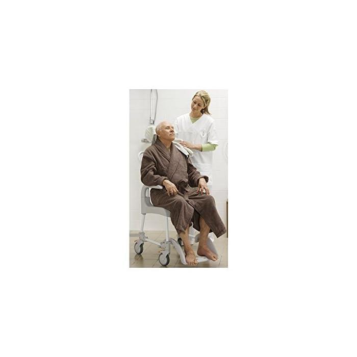 41tTVptmQpL CLEAN es lo último en diseño de sillas para la higiene. Cómoda, segura y fácil de usar. Cada detalle de la Silla de ducha y w.c. ha estado pensado para que cualquier situación sea de lo más fácil para el usuario y para el cuidador. Esta silla es apta para la ducha.