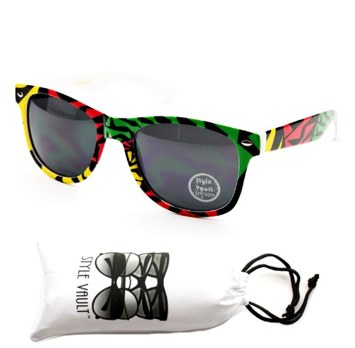 W57-vp Style Vault 80s Sunglasses (CF #1 Yellow, mirrored)
