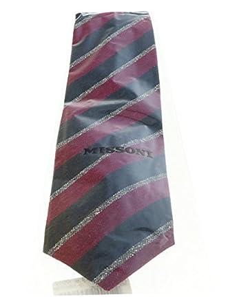 Missoni U5121 Navy//Grey Repp 100/% Silk Tie