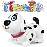 Electronic robot dog, Touch to Fun interactive puppy with Music, Dancing,Walking and Chasing,Interactive toys for kids gift(white)