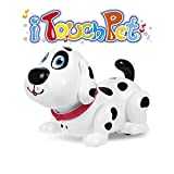 robot dog puppy - Electronic robot dog, Touch to Fun interactive puppy with Music, Dancing,Walking and Chasing,Interactive toys for kids gift(white)