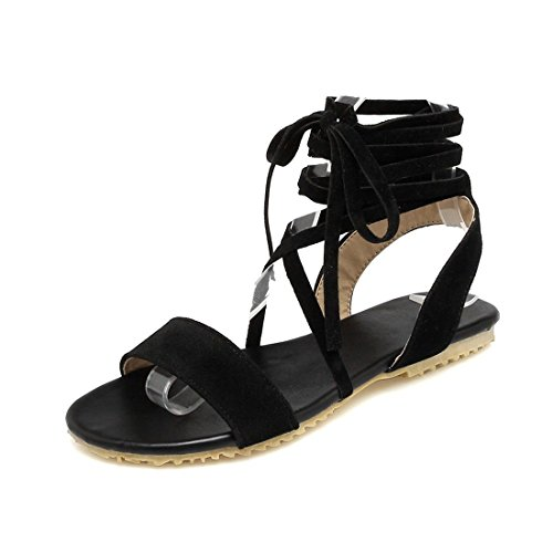 Calzado Plano Sandalias con Mujer Black Planas Mujer Transversal Sandalias Mujer para Pulsera Estudiante Verano Tira Sandalia de HCwnZC6qg