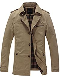 "<span class=""a-offscreen"">[Sponsored]</span>Men's Cotton Single Breasted Trench Jacket"