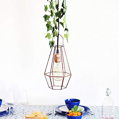 Waen Lighting & Lantern Collection - Large Industrial Hanging Pendant Light (Copper, Silver, Black)