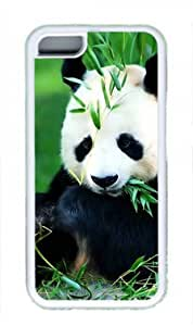 Cute Panda Custom Rubber(TPU) white Case for iphone 5/5s iphone 5/5s Masterpiece Limited Design by Cases & Mousepads