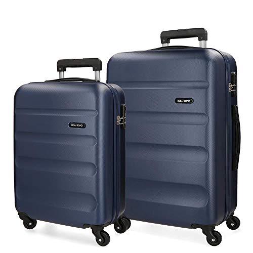 Roll Road Flex Kofferset, 65 cm, 91 Liter, Blau