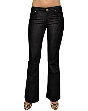 Guess Flare Leg Slim Fit Mid Rise Stretch Jeans Denim Pants, Rinse Wash