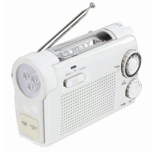 [해외]수동식 충전 라디오 라이트 KDR-10-W 화이트 / Hand-held charging radio light KDR-10-W White