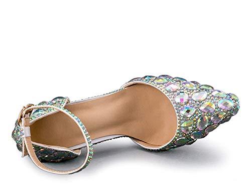 Para Cristales Novia Espumosos color Mujer Uk Nupciales Rhinestons Plata 6 Con De Zapatos Y Tamaño Hhgold pCSn4xXq4