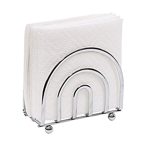 Picture of a Home Basics Chrome Collection Napkin 857198004545 ...