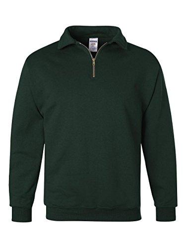 Collar Side Zipper - JERZEES Mens SUPER SWEATS 1/4-Zip Sweatshirt with Cadet Collar, 3XL, Frst Grn