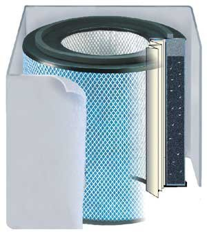 Air Filter Replacement Austin Healthmate - Austin Air HM400 Healthmate Replacement Filter w/Prefilter (Light-Colored) FR400B White